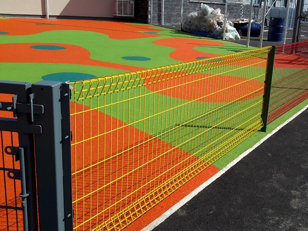 a dash of colour to a school playground